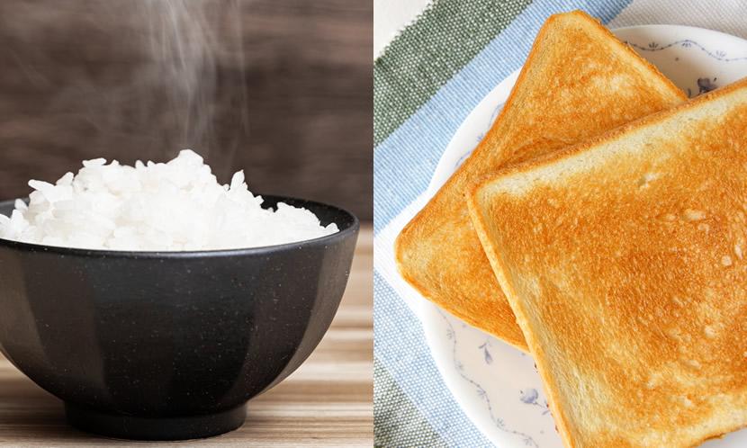 朝ごはんの中心は炭水化物