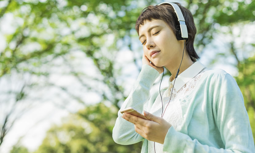 音楽は気分をリラックスさせることが出来る