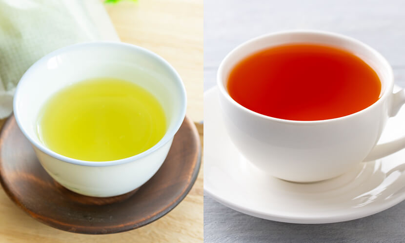 暗記力、記憶力が上がる食べ物3緑茶、紅茶、コーヒーなどのカフェイン入りの飲料